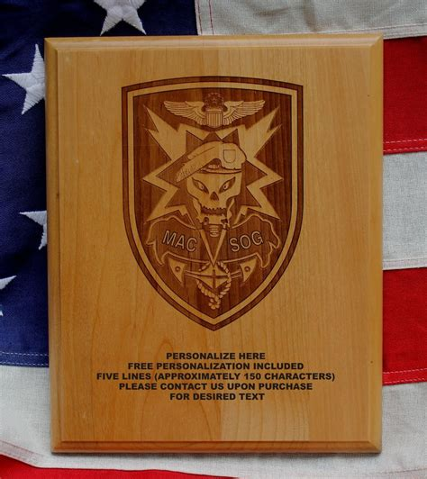 army gifts army macv sog plaque gift special