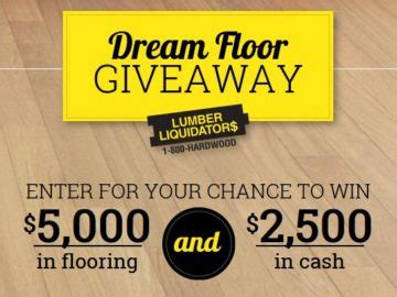 Lumber Liquidators Sweepstakes 2017 - lumber liquidators dream floor giveaway sweepstakes