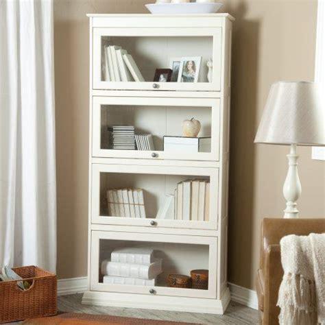 Bradshaw 4 Tier Barrister Bookcase Creamy White White Barrister Bookcase
