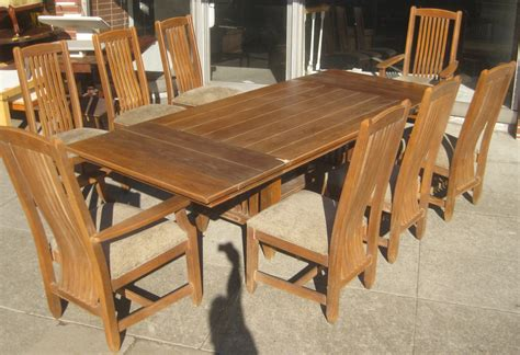 Ethan Allen Dining Table And Chairs Uhuru Furniture Collectibles Sold Ethan Allen Dining Table And 8 Chairs 650