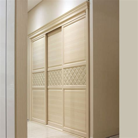Oppein Latest Built In Sliding 3 Doors Bedroom Wardrobe Bedroom Furniture Wardrobes Sliding Doors