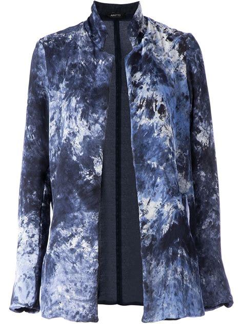 avant toi tie dye reversible jacket in blue lyst