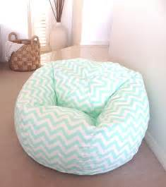 Bean bag mint green zig zag adults teenagers kids chevron beanbag