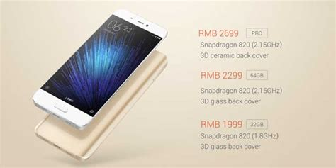Hp Xiaomi Mi5 Dan Spesifikasi harga xiaomi mi5 ram 3 4 gb 32 64 128 gb dan spesifikasi