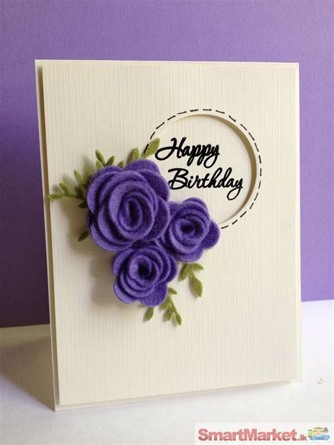 Happy Birthday Handmade Card Designs - handmade greetings cards for sale in kandy smartmarket lk
