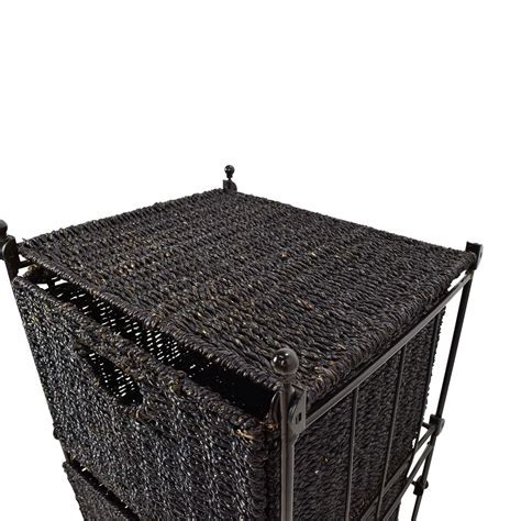 54% OFF   Dark Gray Wicker Basket Bin / Storage
