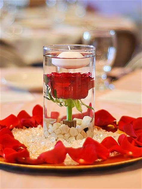 wedding centerpiece floating candles
