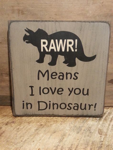 dinosaur wood sign room sign boys room decor rawr
