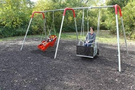 swing for wheelchair users two bay ada compliant wheelchair swing set with swings