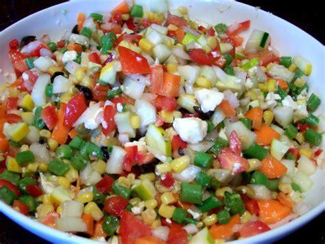 Dixies Chopped Vegetable Salad Recipe   Genius Kitchen