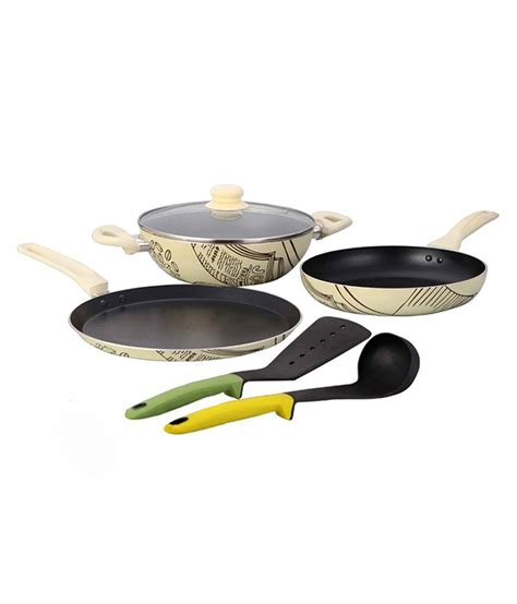 amazon skillet wonderchef picasso cookware set with free spoon spatula