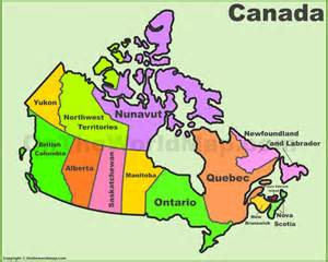 canada map and provinces canada provinces and territories map list of canada