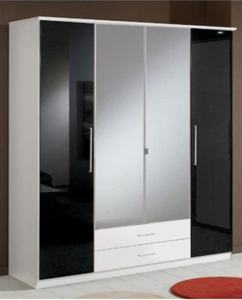 berlin  door wardrobe black gloss  white