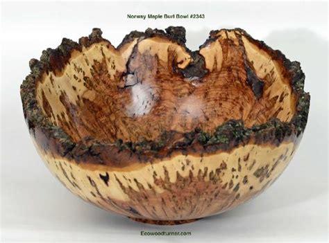 norway maple burl natural edge bowl