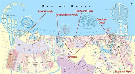 complete dubai city map  travel information guide