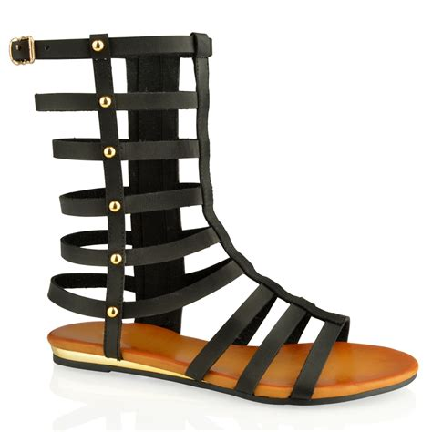 mid calf gladiator sandals womens cut out mid calf flat gladiator sandals