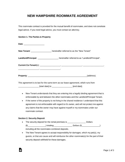 Free Simple Lease Agreement Template Exles Of Purchase Order Forms Loose Leaf Paper Background Nh Rental Agreement Template
