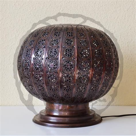 iron sphere floor l buy sphere shape moroccan l of pierced bronzed iron 35