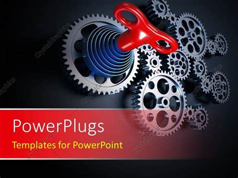 Powerpoint Template A Machine Concept Using Set Of Interconnected Gears With Black Color 23728 Powerpoint Templates For Machines