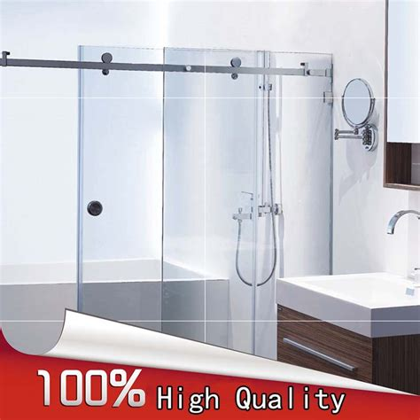 bathroom glass sliding shower doors popular frameless sliding shower doors buy cheap frameless