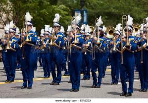 sections of a marching band american high school band stock photos american high