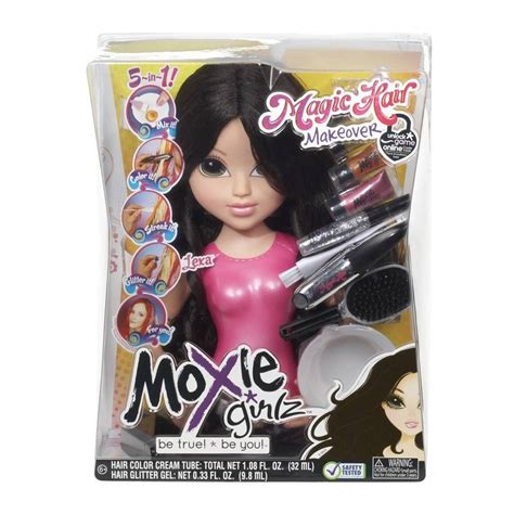 hair and makeup doll head toy makeup and hair styling doll head moxie girlz magic hair