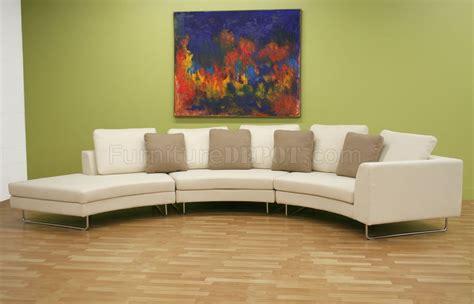 half moon shape microfiber sectional sofa coffee table set