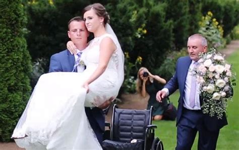 Wedding Aisle Crash by Groom Carried The Aisle Weeks After