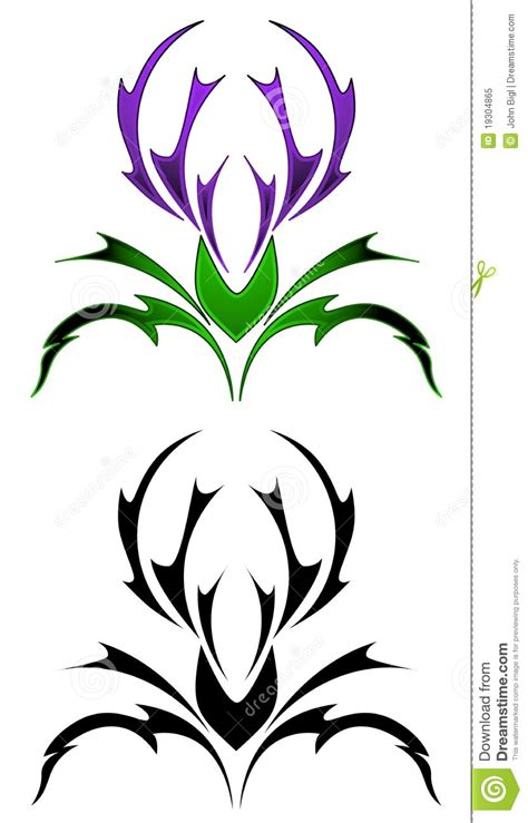 tribal thistle tattoo designs scottish thistles tattoos designs scottish thistles