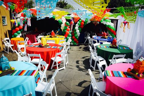 mexican themed events fiesta party mexican party paper picado centerpieces