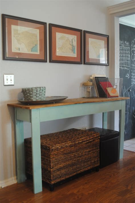 easy diy console table designed diy console table