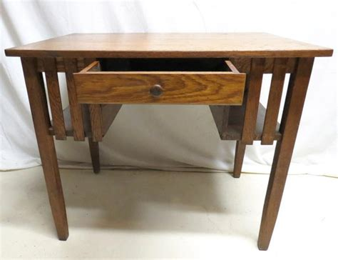Antique Tiger Oak Desk by Antique Arts Craft Mission Tiger Oak Drop Front Desk