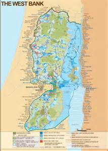 west map west bank of israel map