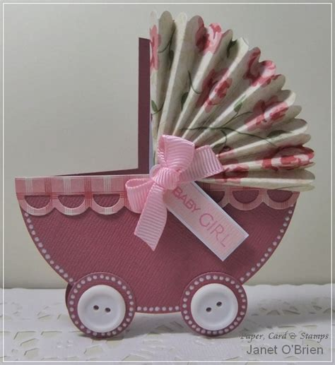 How To Make A Paper Baby - paper card sts baby pram card