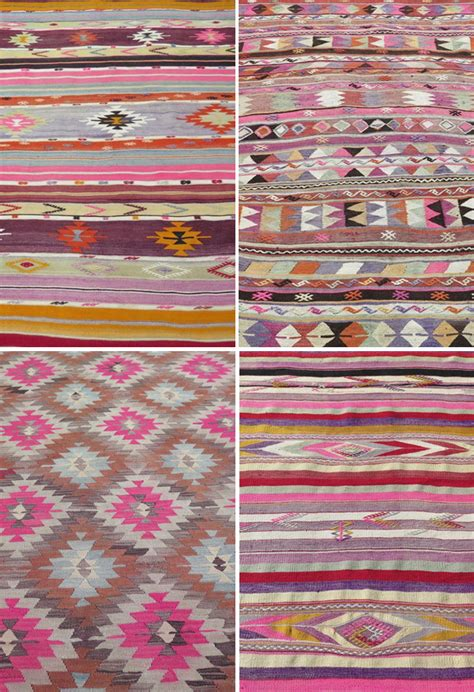 Pink Kilim Rug by A Bedroom With A Soft Pink Kilim Rug The Style Files