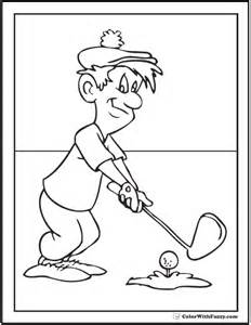 golf coloring pages golfer coloring pictures to pin on pinsdaddy