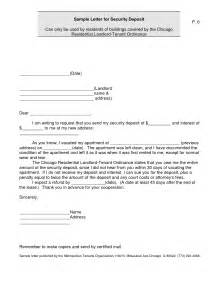 best photos of deposit demand letter example security