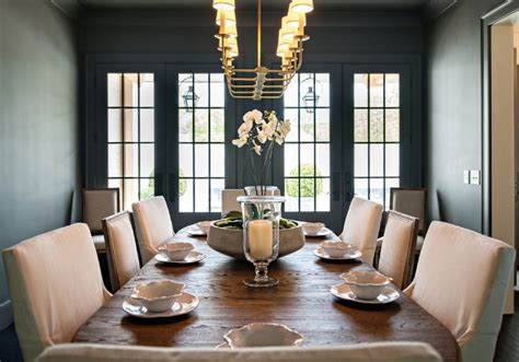 dark gray dining room family home with inspiring neutral interiors home bunch