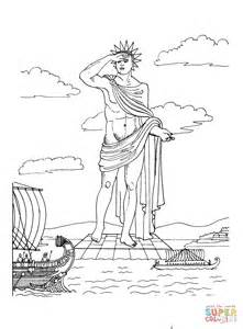 coloring pages seven wonders of the ancient world colossus of rhodes coloring page free printable coloring