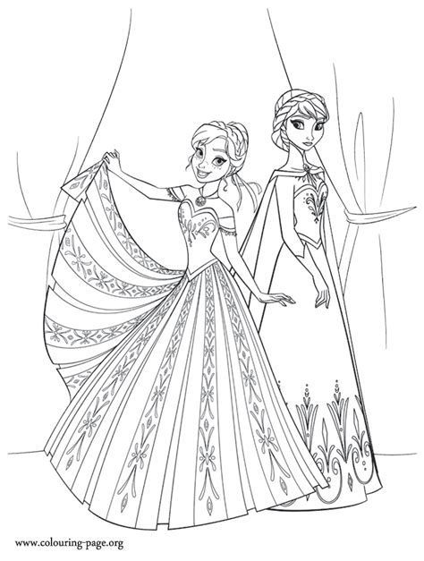 free coloring pages of elsa anna