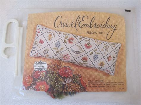 crewel pillow kits crewel embroidery pillow kit by elsa williams by cuckoosfabrik