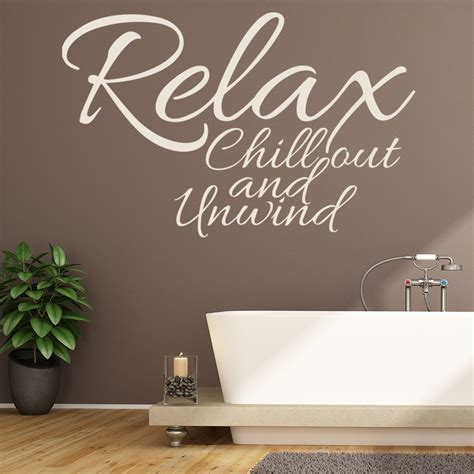 relax chill  wall sticker bathroom quote wall decal