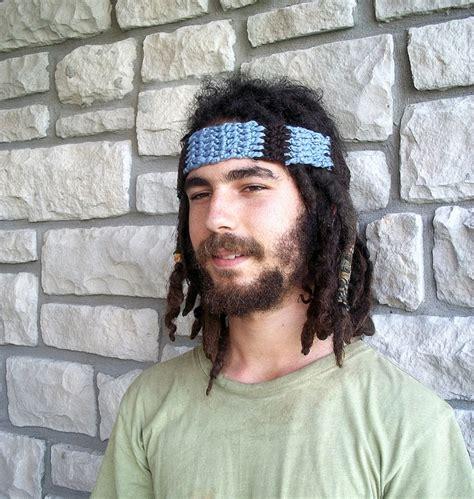 male hippie hair mens crochet headband bohemian hippie hair accessories