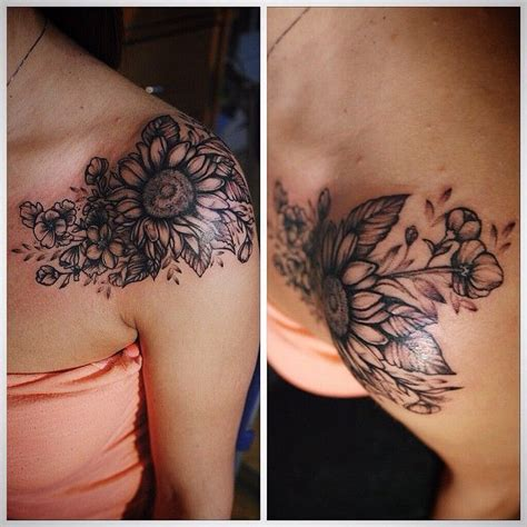 sunflower arm tattoo 25 best ideas about sunflower shoulder on