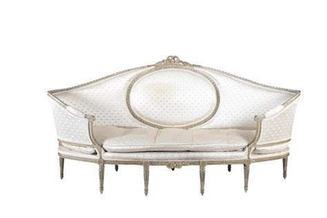 oval shaped sofa a large louis seize style shaped oval sofa the painted timb