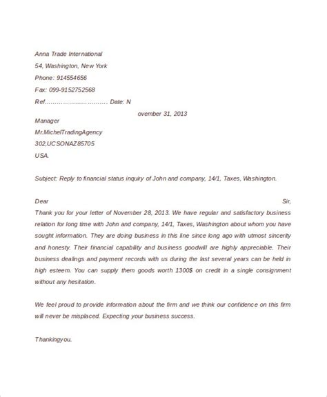 Business Letter Writing Language business inquiry letter sle
