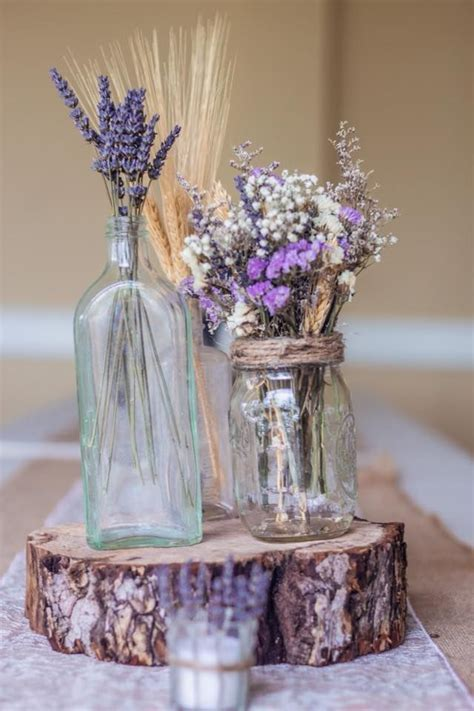 purple wedding centerpieces on pinterest inexpensive dried lavender centerpieces rustic country decor