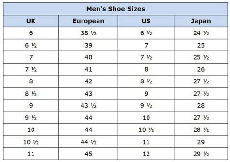 shoe size chart euro to uk clothing size conversion charts scrap