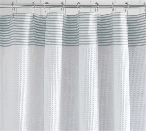 waffle weave shower curtain striped dobby waffle weave shower curtain pottery barn