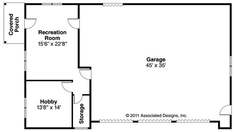 rec room floor plans craftsman house plans garage w rec room 20 089